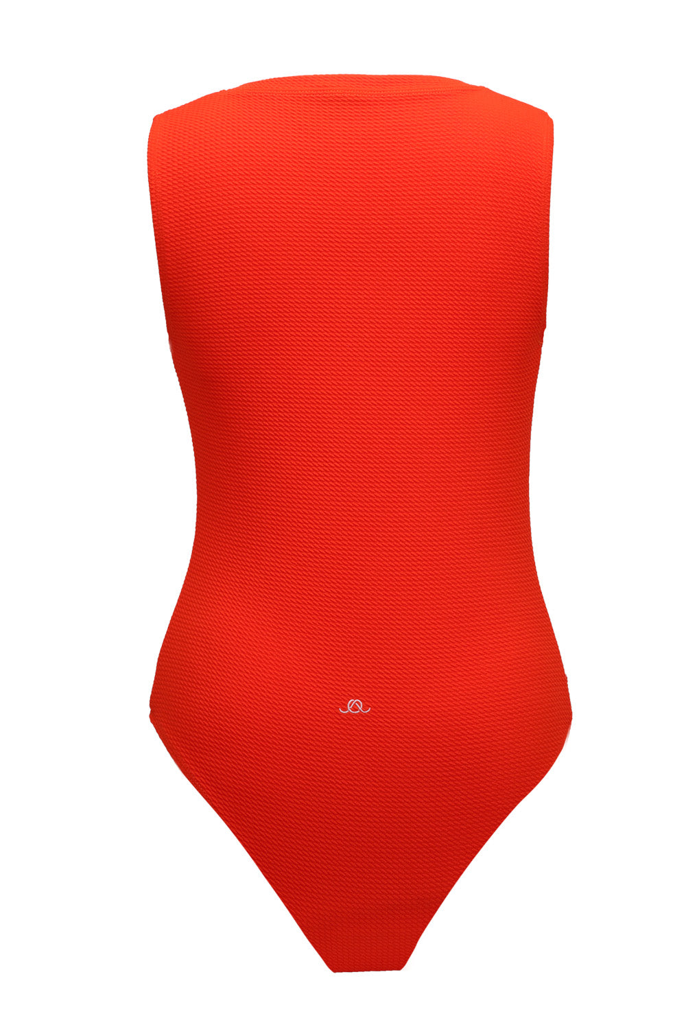 The Blood Orange Poppy Waffle One-Piece