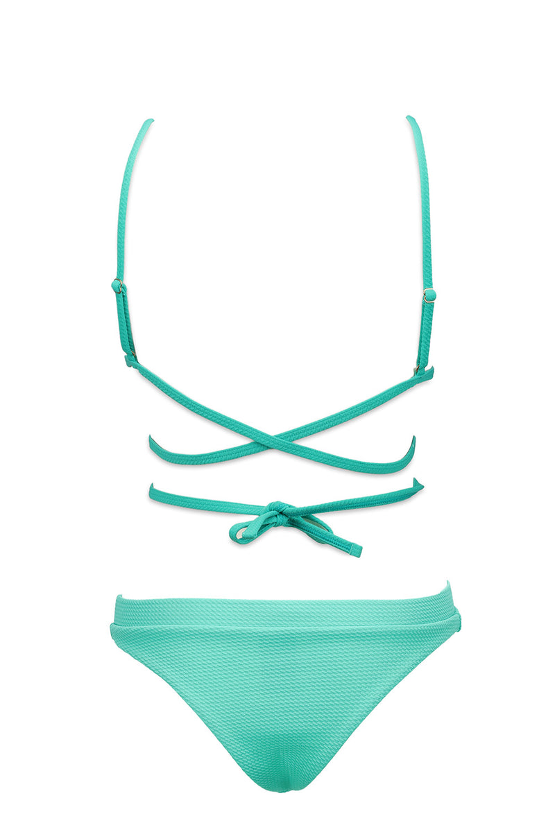 The Turquoise Frankie High Waist Bottom