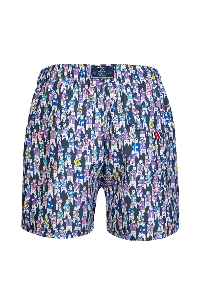 The Charcoal Hawaiian Polar Bear Swim Short