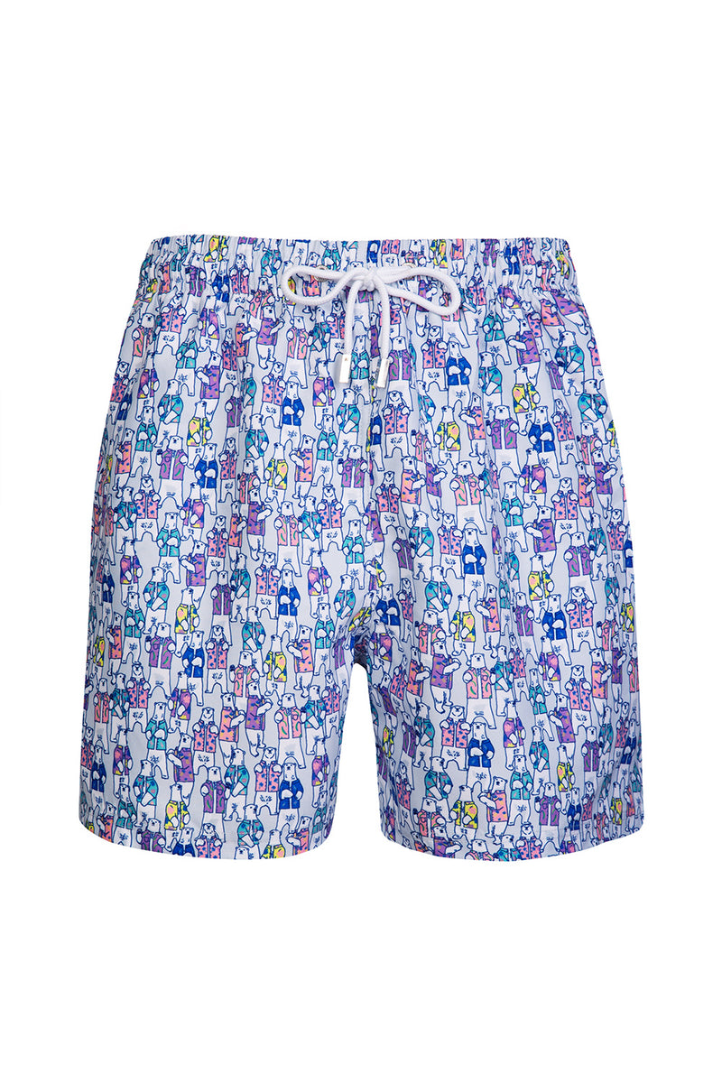 The Silver Hawaiian Polar Bear Swim Short