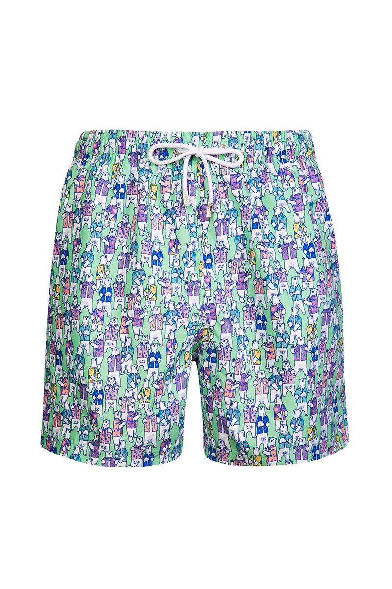 The Green Hawaiian Polar Bear Swim Short