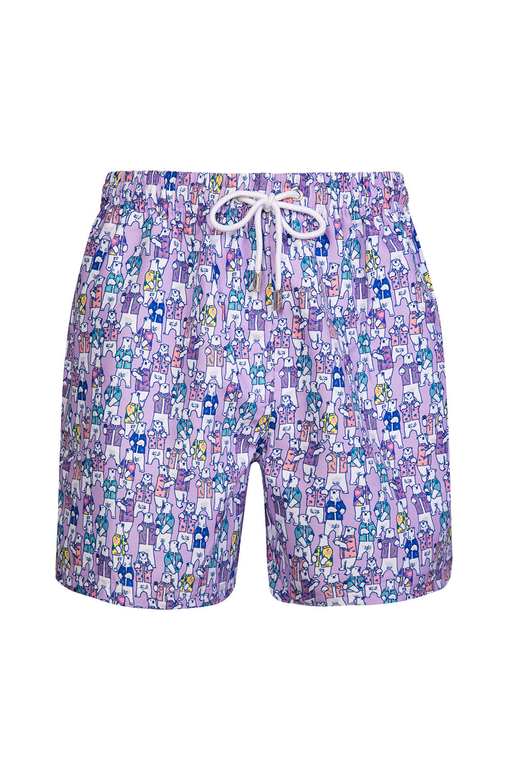 The Purple Hawaiian Polar Bear Swim Short