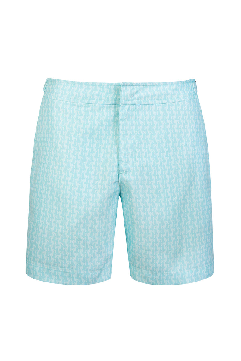 The Mint Green Penguin Tailored Swim Short