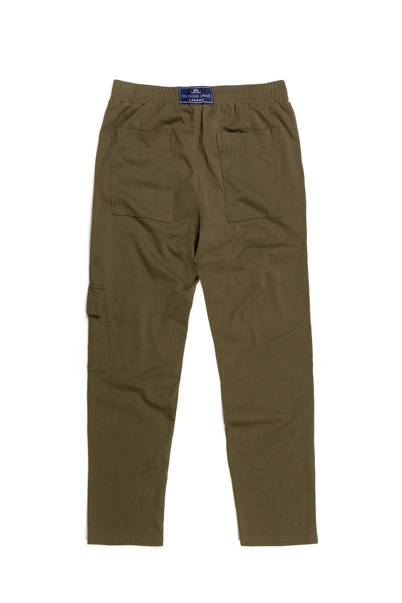 The Khaki Cargo Sweatpants