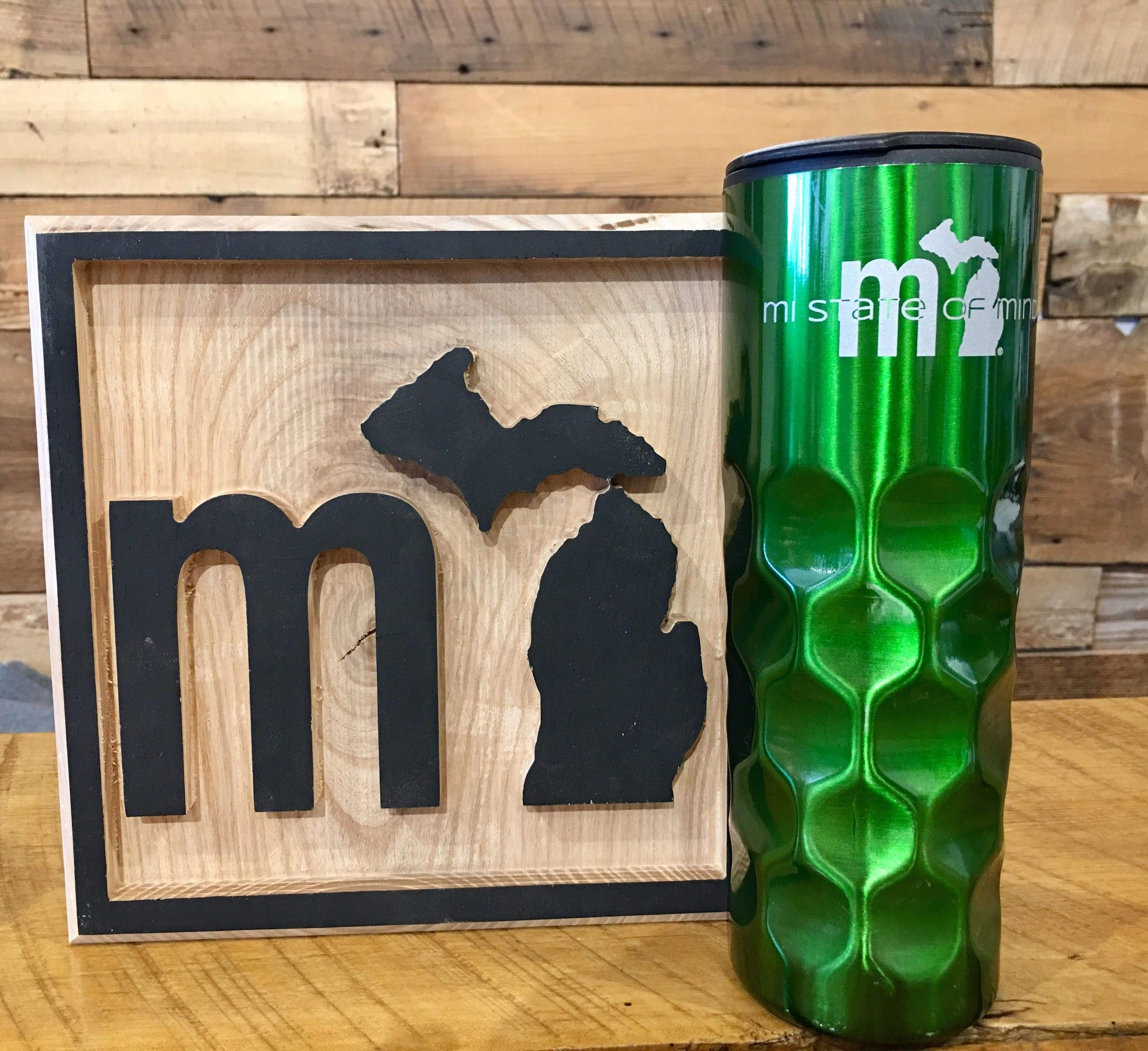 mi State of Mind Drinkware Green mi Thermos - Metallic