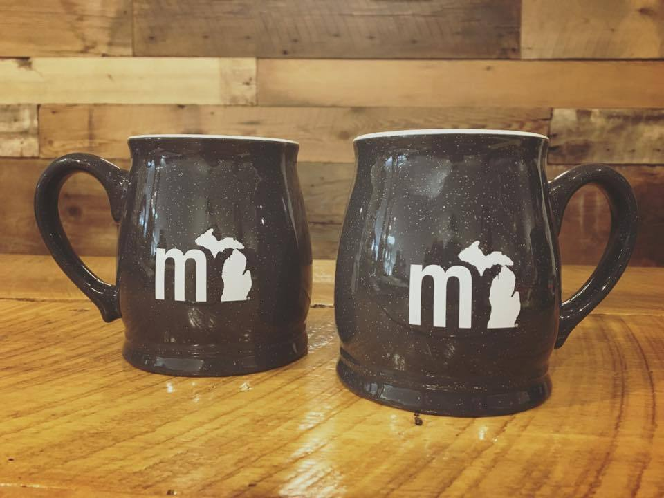 mi State of Mind Drinkware mi 16 oz. Barrel Mugs - Set of 2 (Pick from 2 colors)