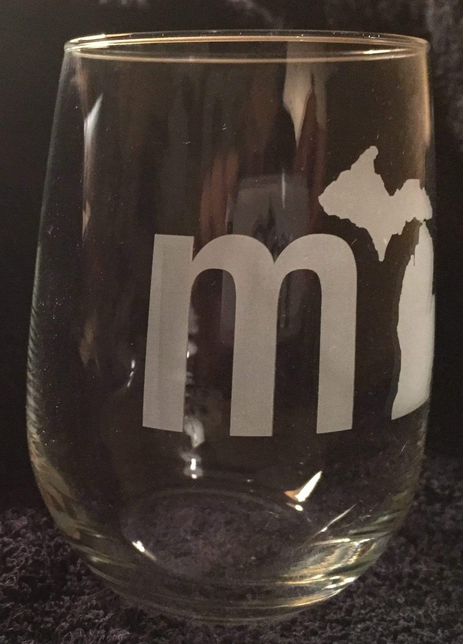 mi State of Mind Drinkware mi Set of 2 Wine Glasses
