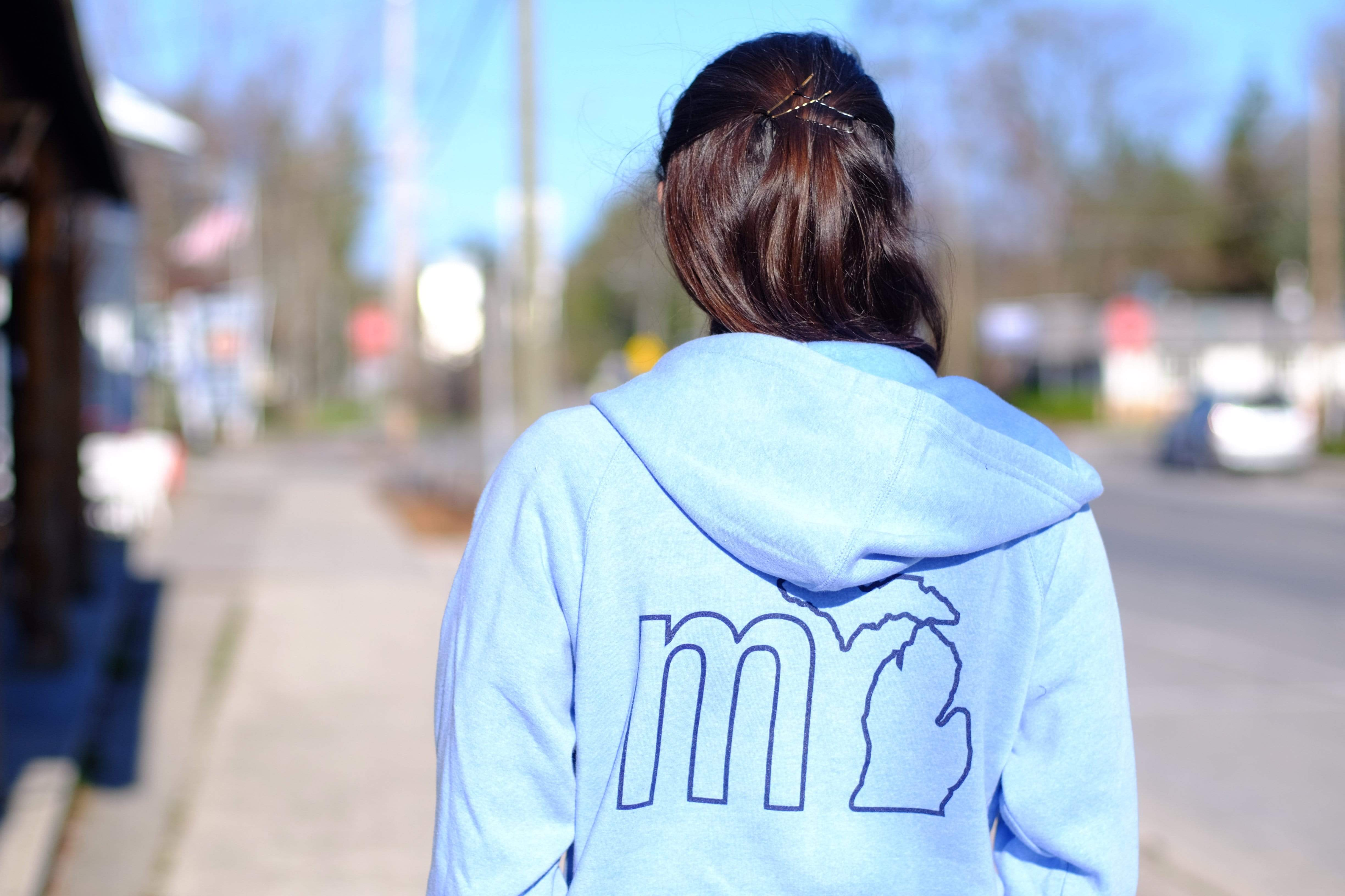 mi State of Mind Hoodie Zip up mi Soft Full Zip Hoodie (2 colors)