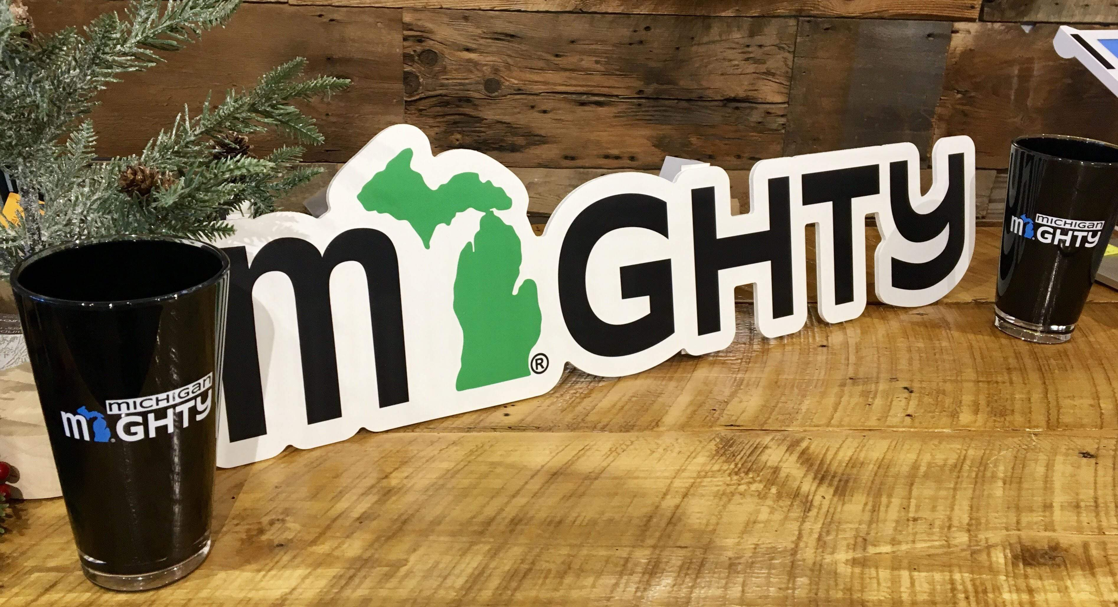 mi State of Mind pint glass Michigan MIGHTY 20 oz. Acrylic Pints - Set of 2
