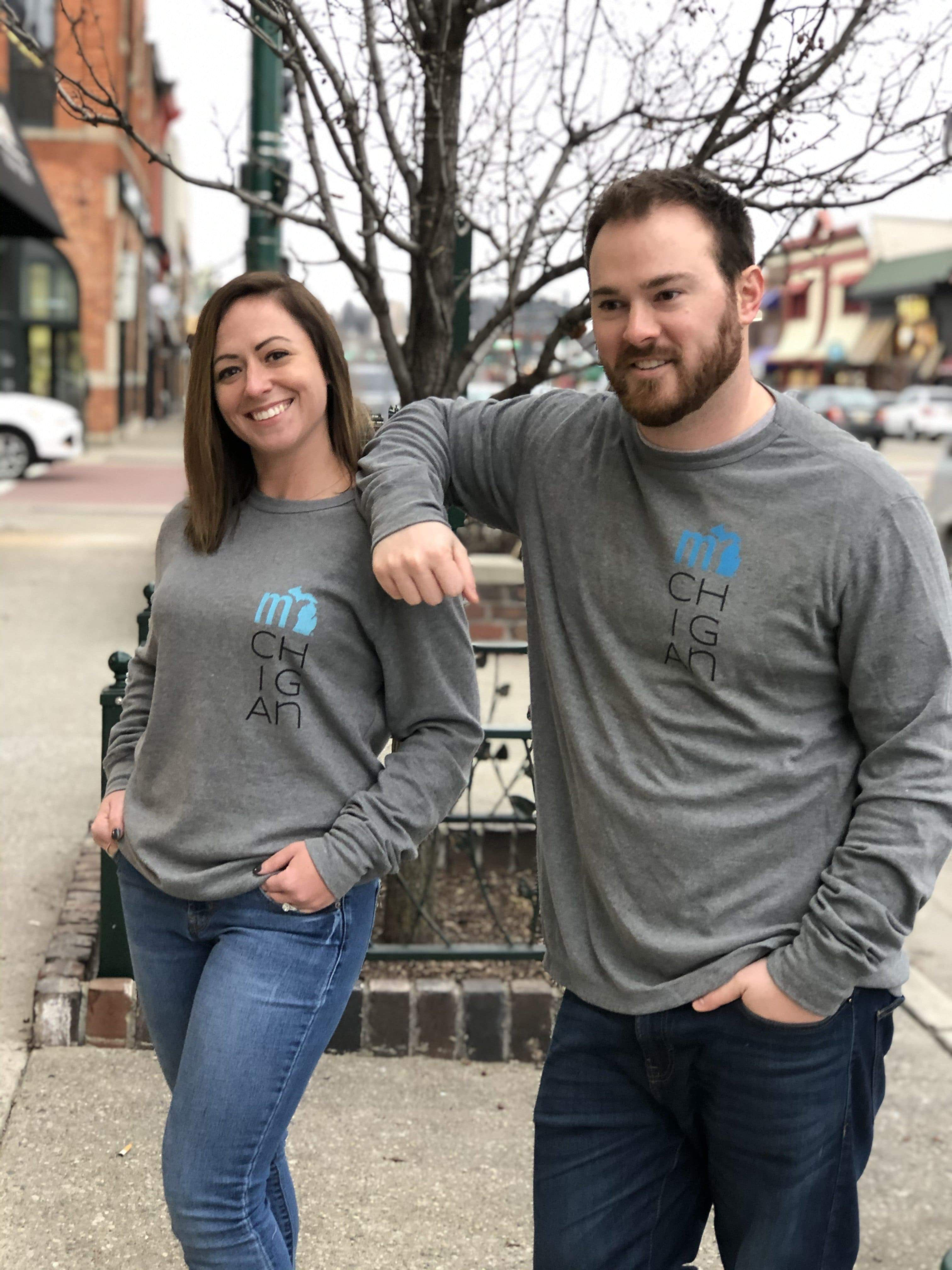"Michigander ""mi-ch-ig-an"" Unisex Thermal LS T"