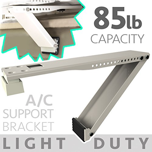 Universal Window Air Conditioner Bracket - 1pc Medium-Duty Window AC Support - Support Air Conditioner Up to 85 lbs. - For 5000 BTU AC to 11,000 BTU AC Units (MD 1PC ACB) (1, MED DUTY- ONE ARM)
