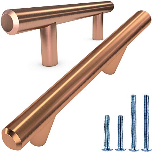 Drawer Cabinet Wardrobe handles pulls Stainless Steel Brushed Copper 3/""