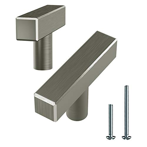 Alpine Hardware | T-Knobs | Kitchen Cabinet Hardware/Dresser Drawer Handles ([2