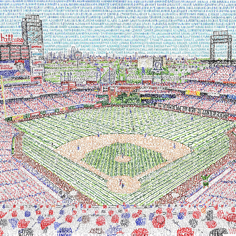 Citizens Bank Park Word Art by Daniel Duffy