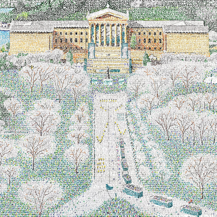 Philadelphia Eagles Parade Word Art by Daniel Duffy