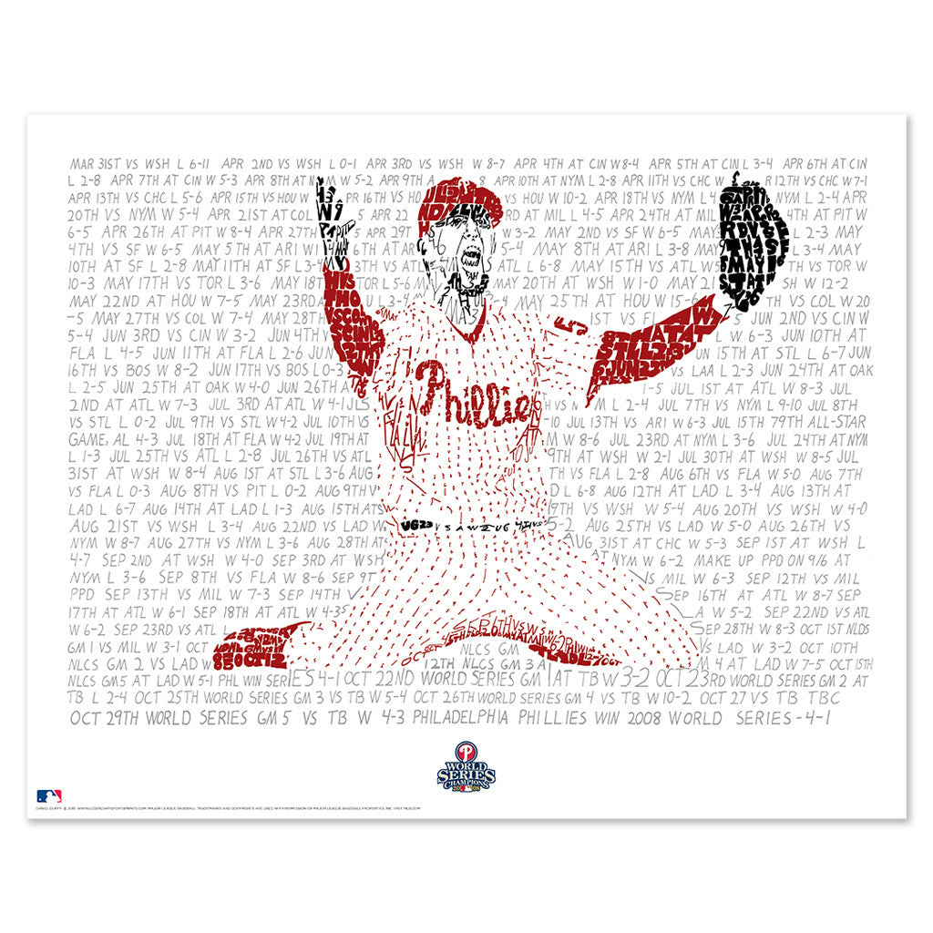 2008 Philadelphia Phillies World Series Word Art