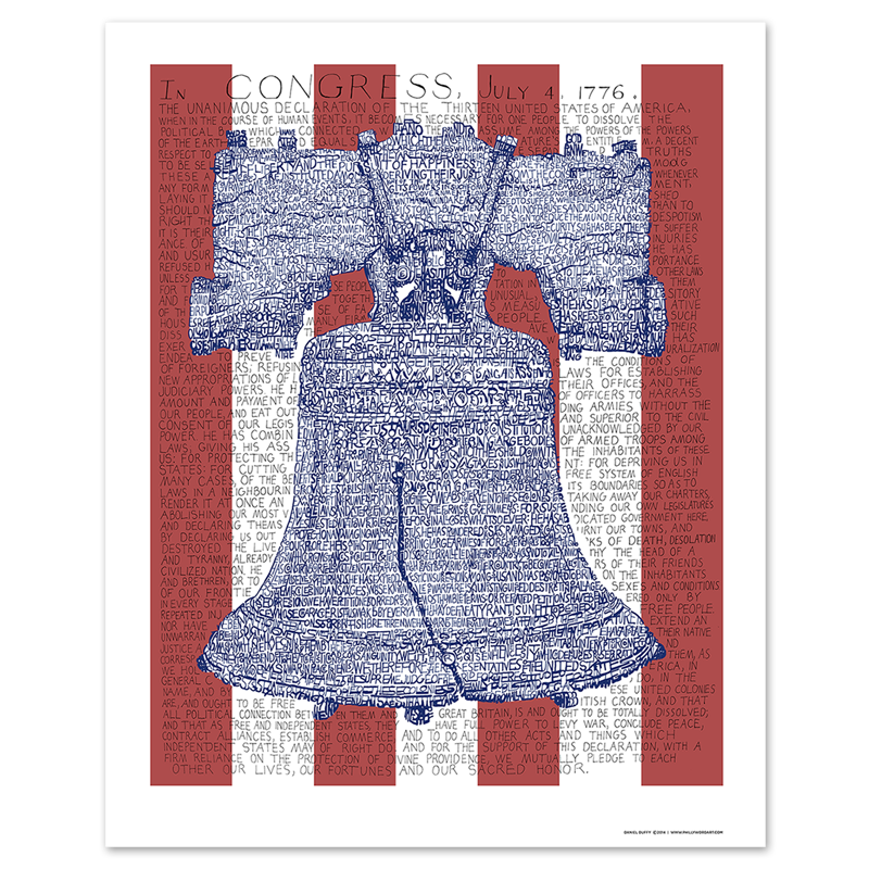 Liberty Bell Declaration of Independence Poster