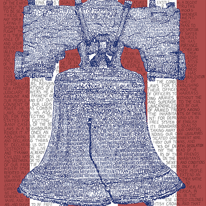 Liberty Bell Declaration of Independence Word Art