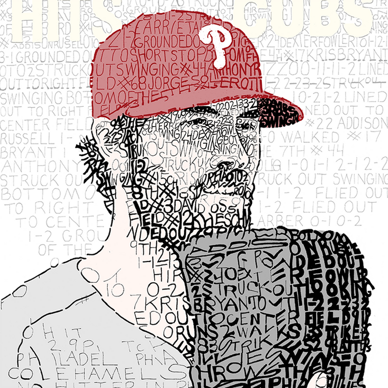 Philadelphia Phillies Cole Hamels Word Art Print