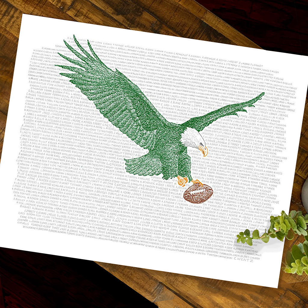 photograph about Philadelphia Eagles Printable Schedule titled Philadelphia Eagles All Season Roster