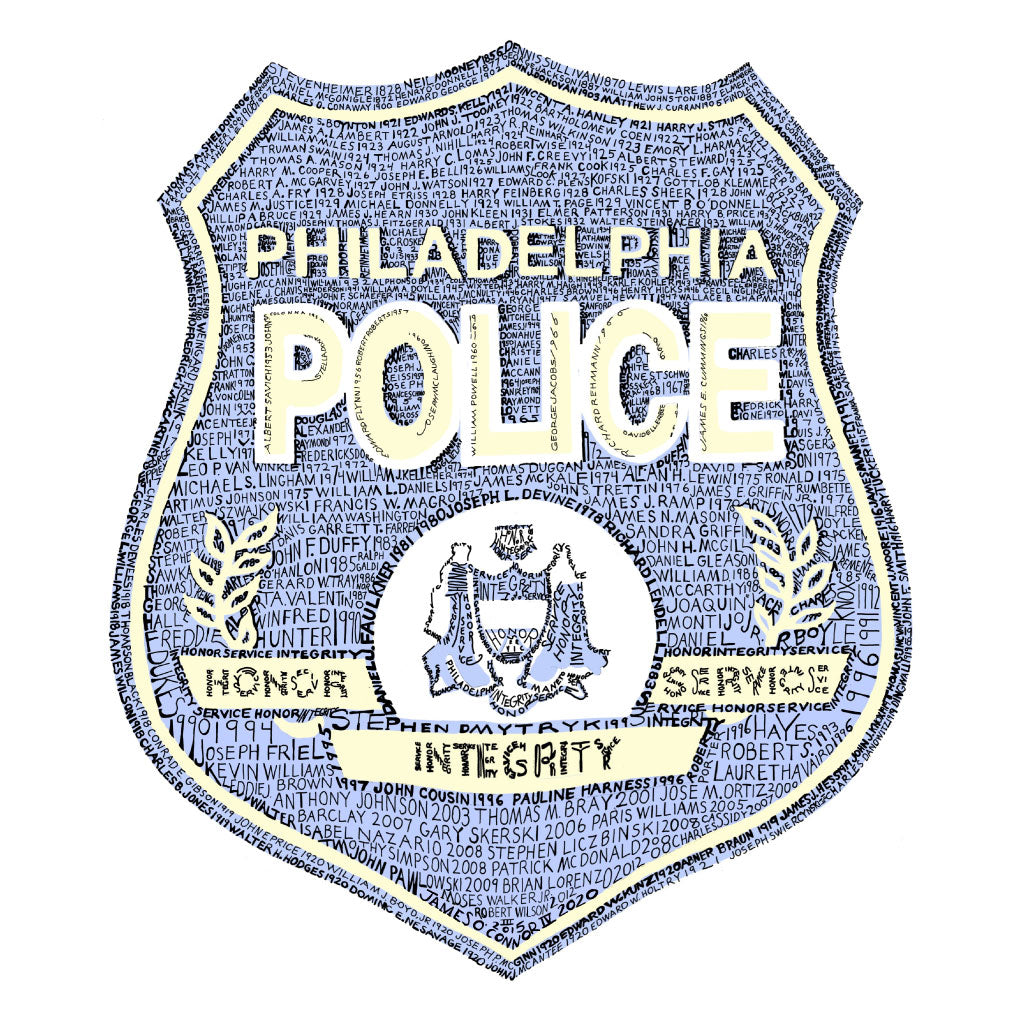 Philadelphia Police Fallen Officers Shield