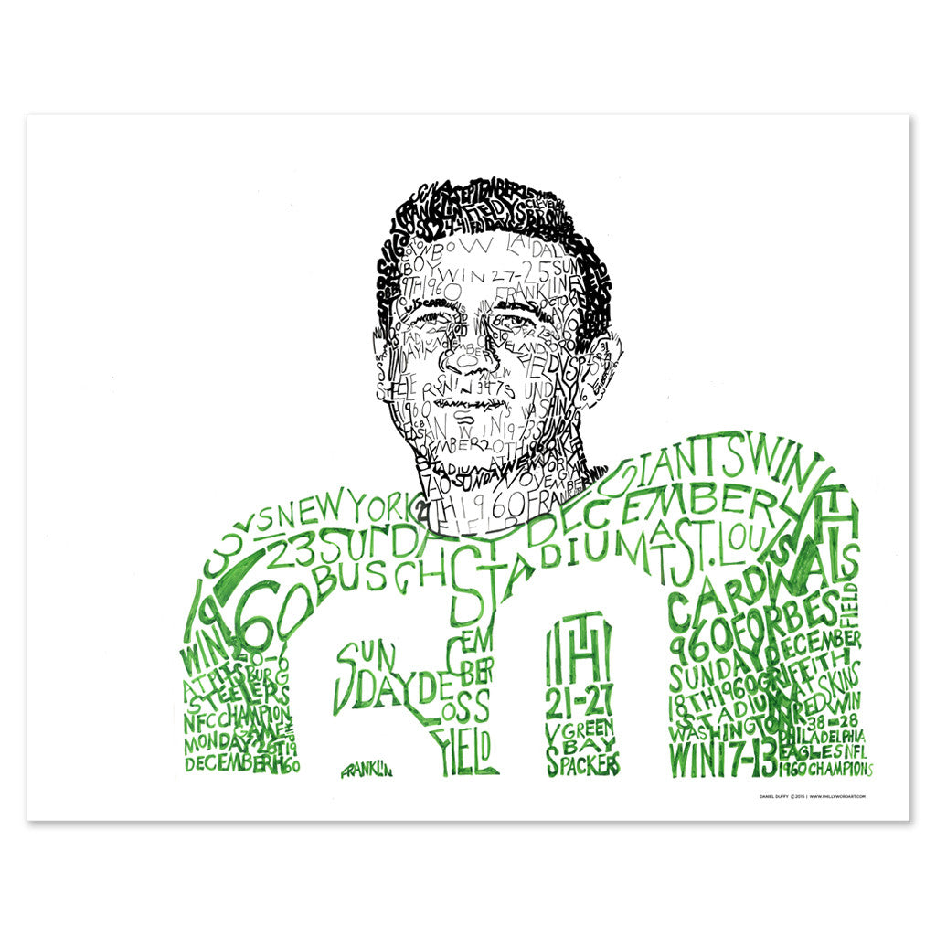Philadelphia Eagles 1960 Wall Decor Poster