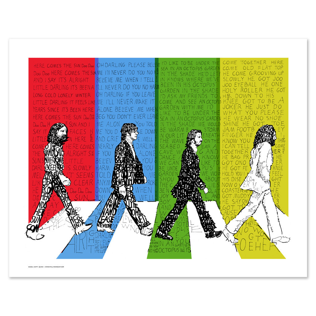 Beatles Abbey Road Wall Art Poster