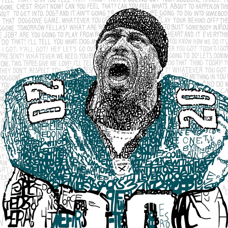Philadelphia Eagles Brian Dawkins Wall Art Poster