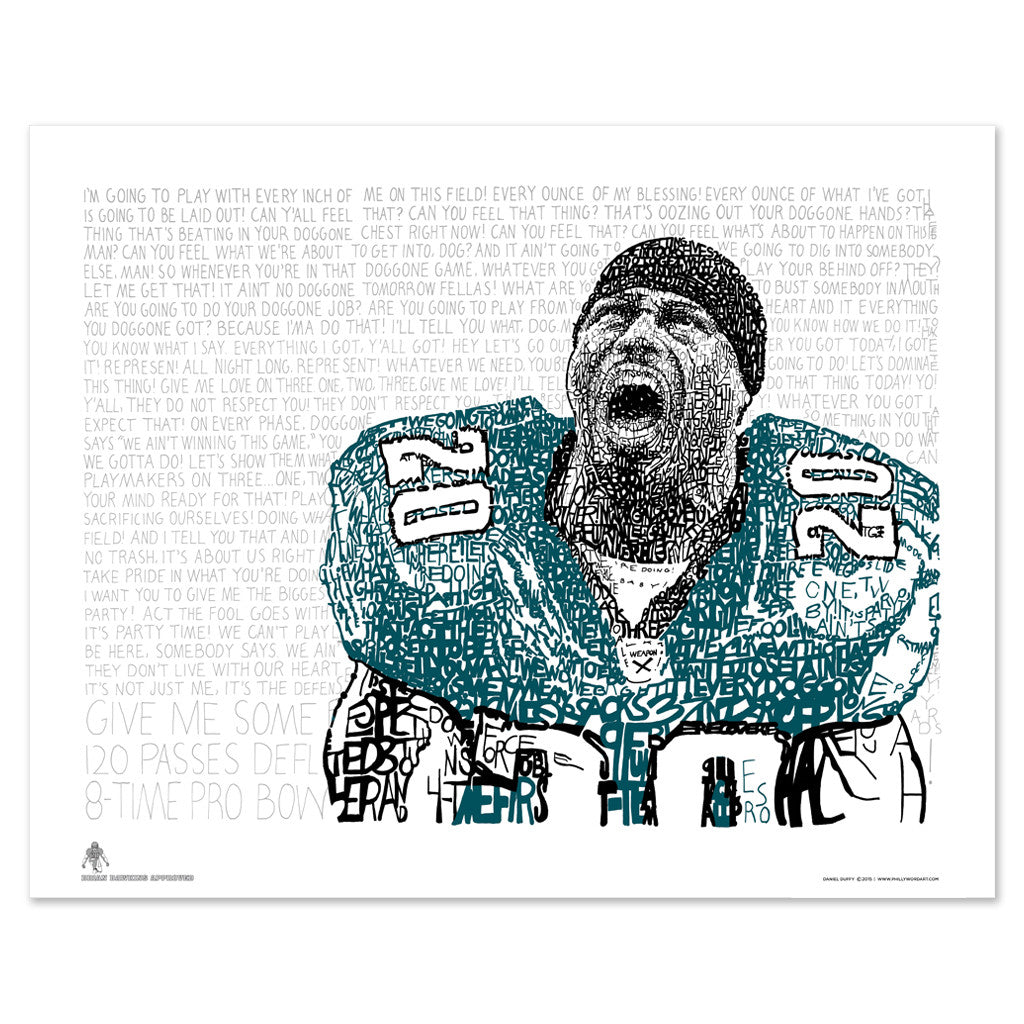 Philadelphia Eagles Brian Dawkins Wall Decor