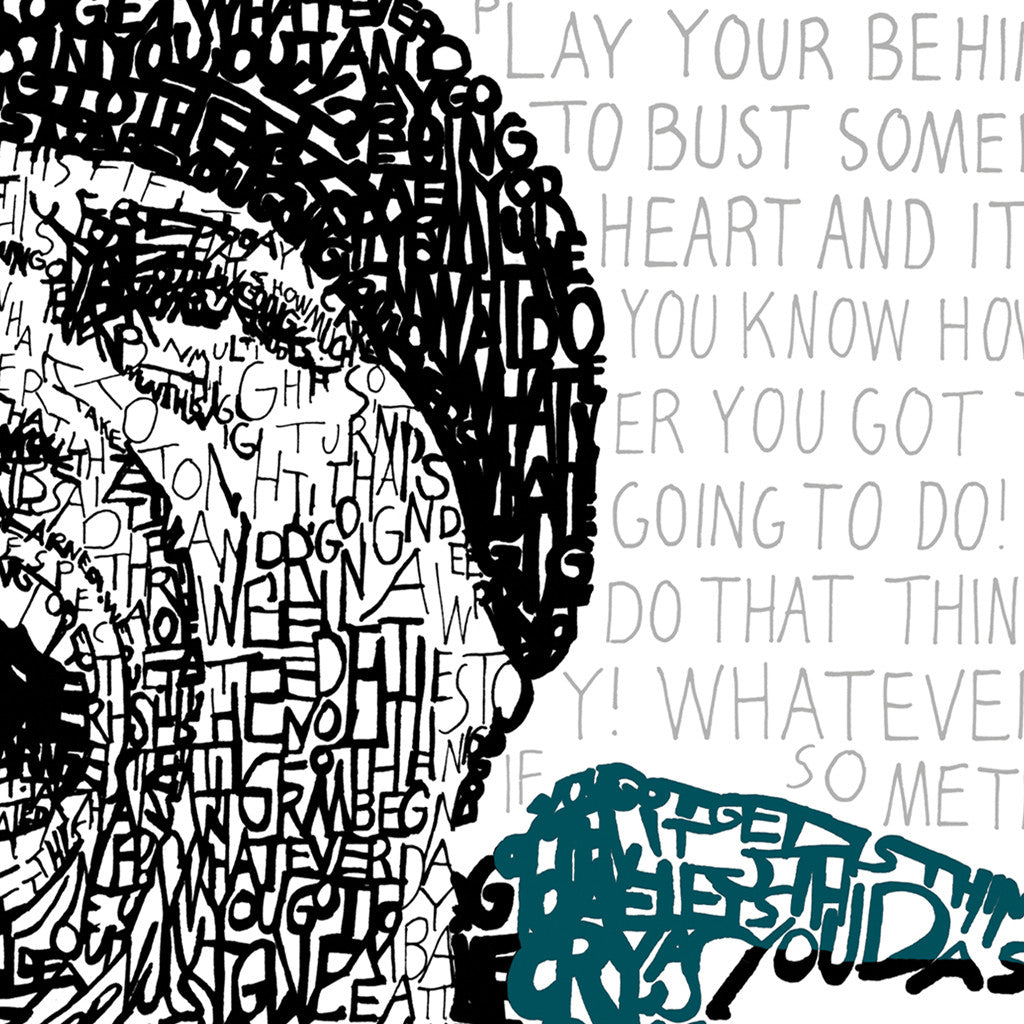 Philadelphia Eagles Brian Dawkins Word Art Poster