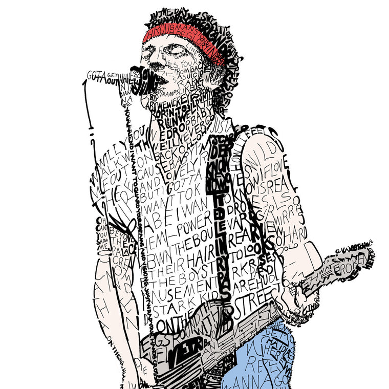 Bruce Springsteen Wall Art Poster