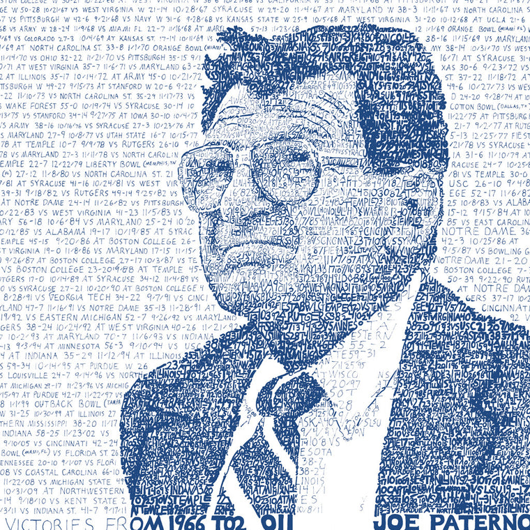Penn State University Joe Paterno Wall Art Print