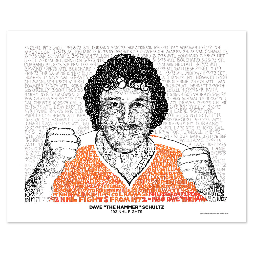 Philadelphia Flyers Dave Schultz Wall Decor