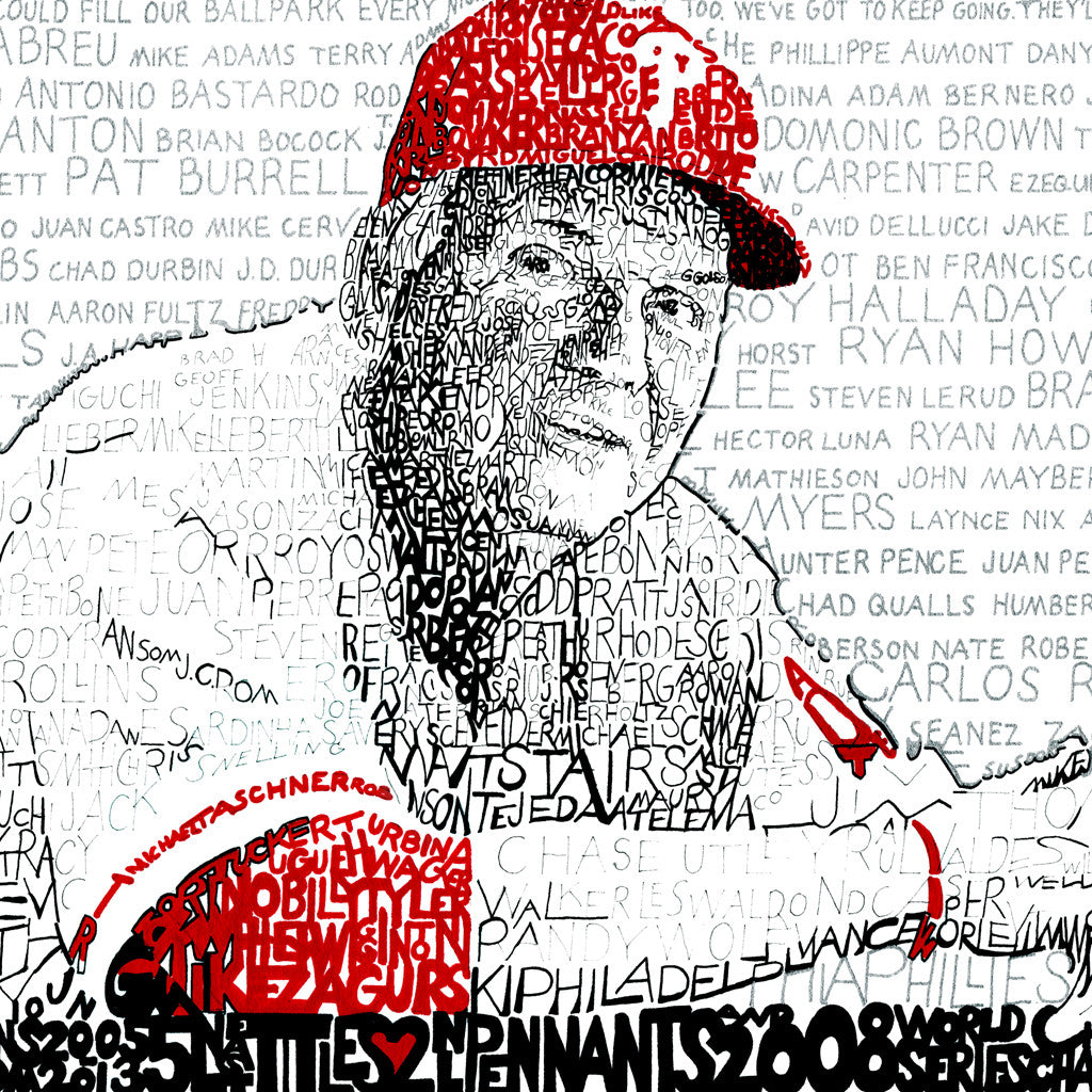 Philadelphia Phillies Charlie Manuel Word Art