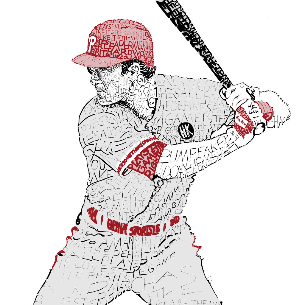 Philadelphia Phillies Chase Utley Word Art Print