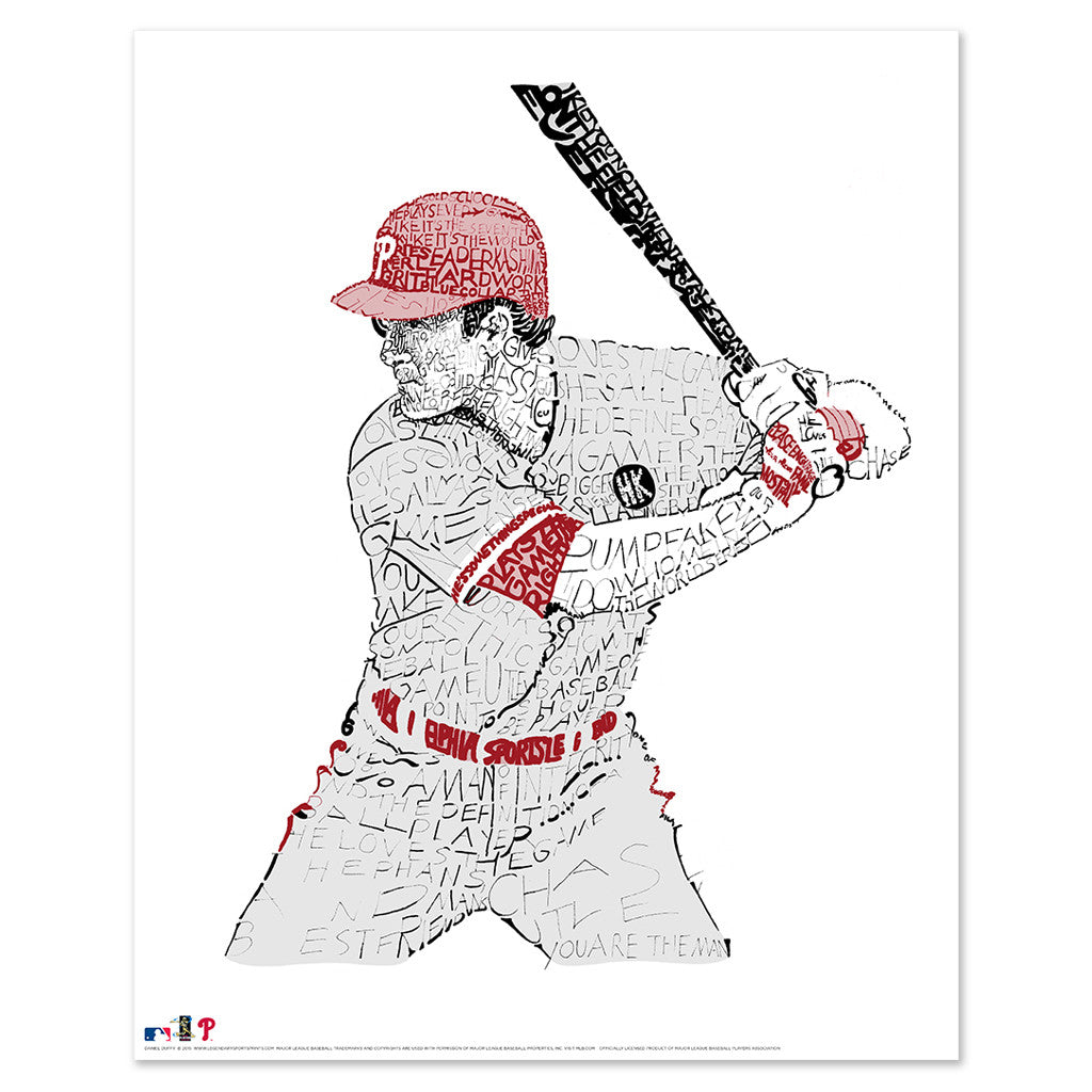 Philadelphia Phillies Chase Utley Wall Art Poster