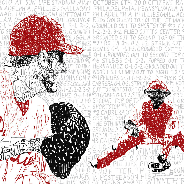 Philadelphia Phillies Roy Halladay Word Art