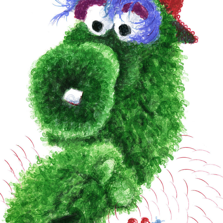 Philadelphia Phillies Phillie Phanatic Wall Art