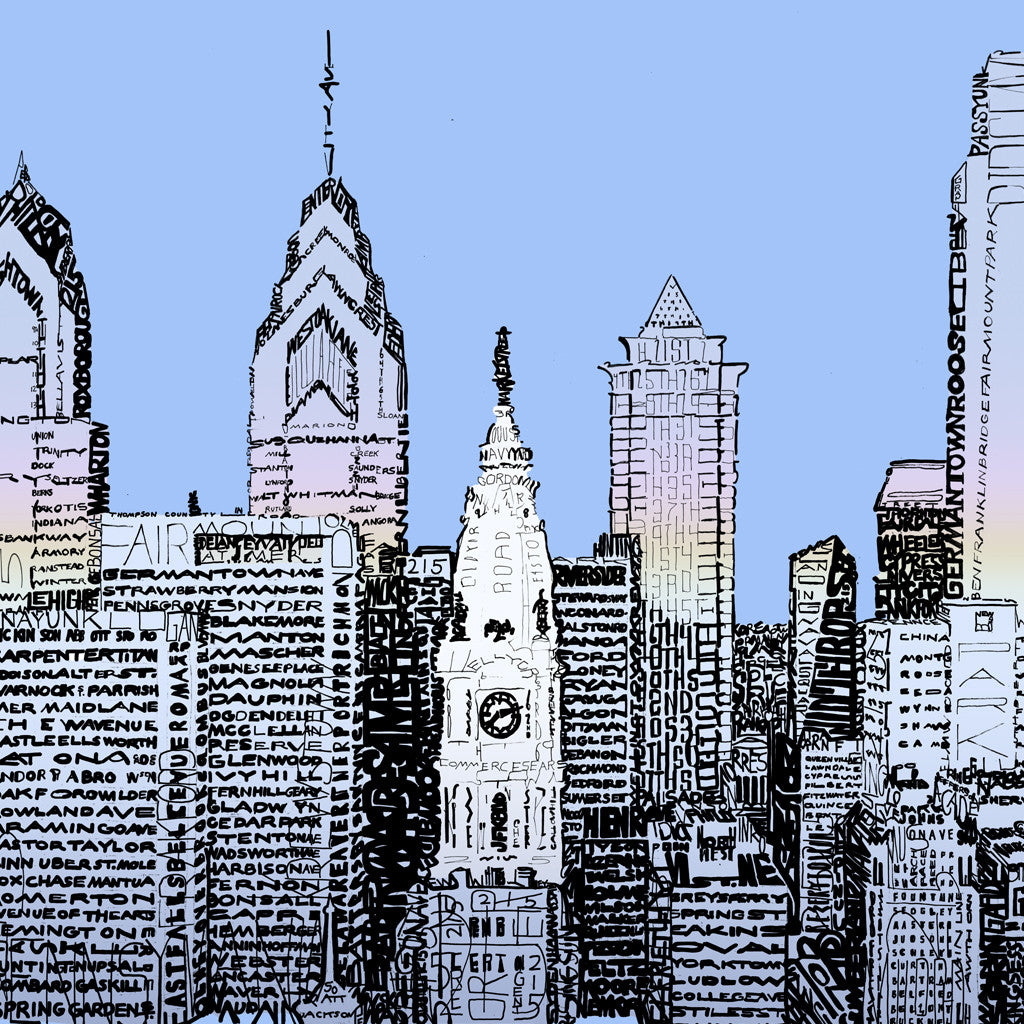 Philadelphia Skyline Wall Art Poster