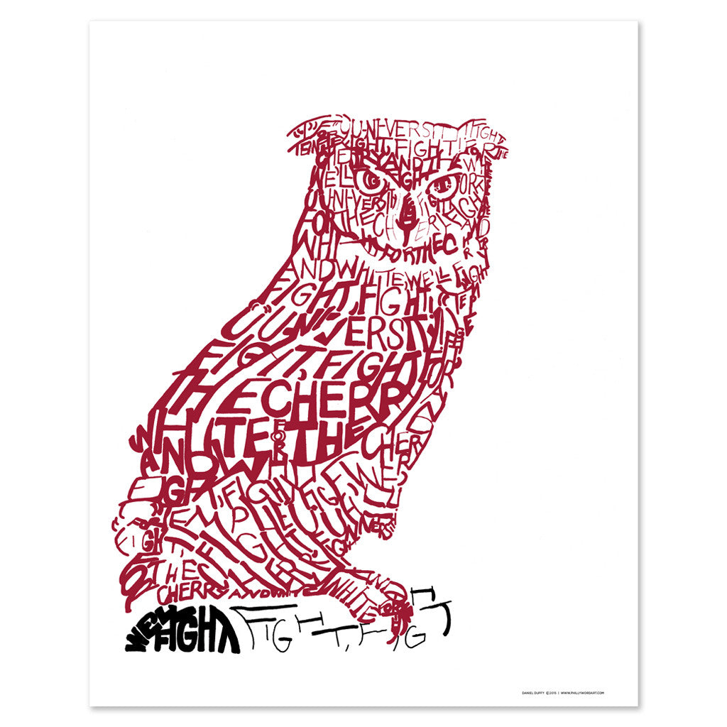 Temple Owls Dorm Decor Poster