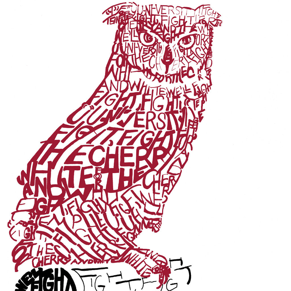 Temple Owls Wall Art Poster