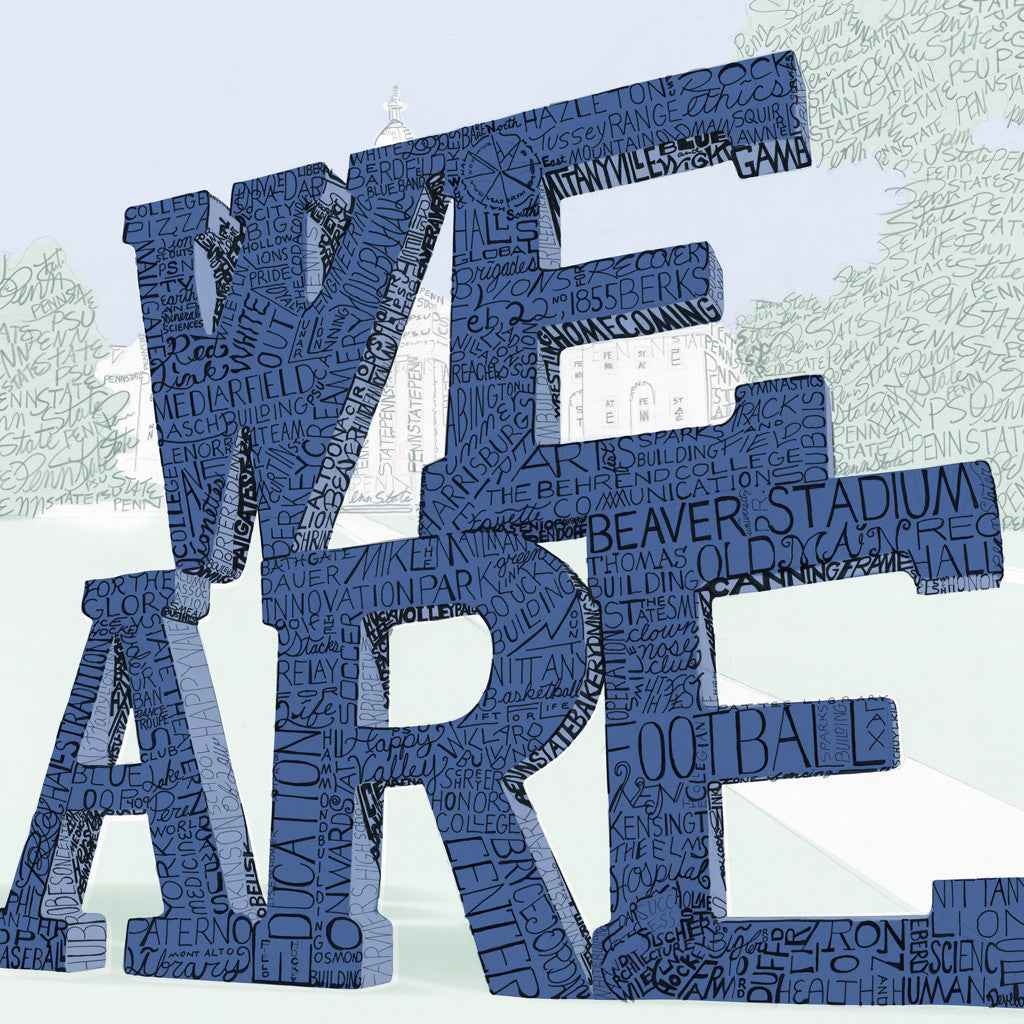 Penn State We Are Word Art Poster