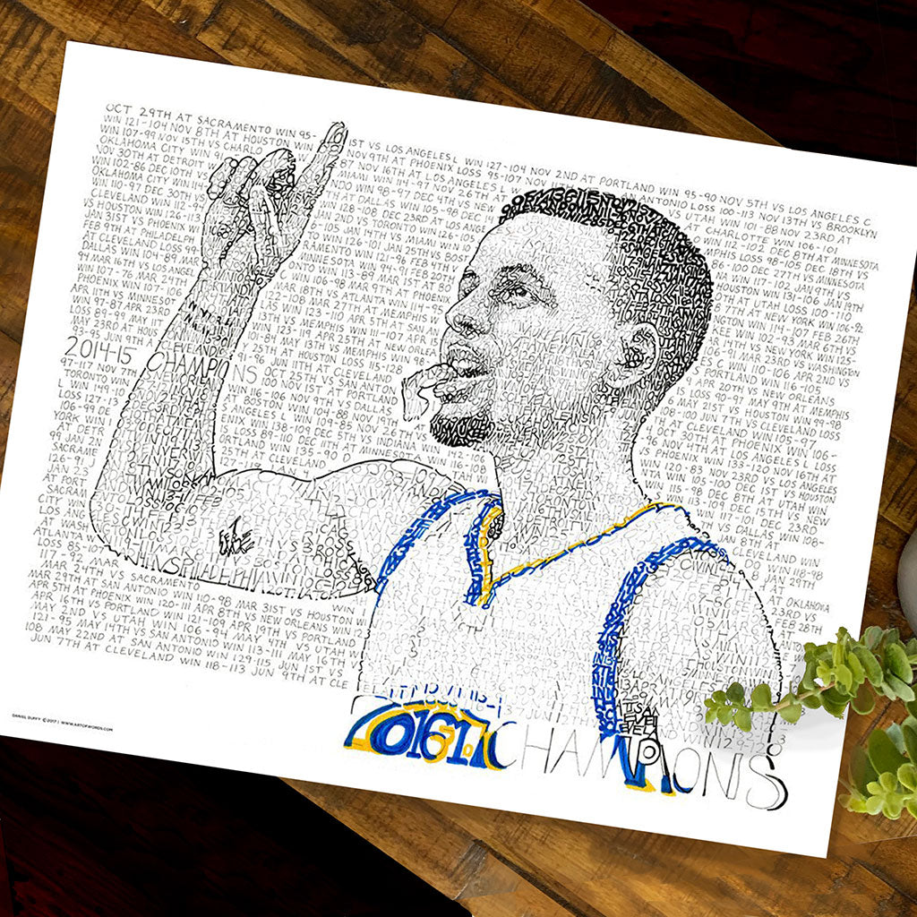 Steph Curry Word Art