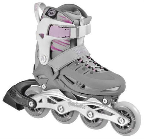 Powerslide Phuzion Girls II Adjustable Inline Skates - Grey/White/Pink - Surf' in Monkeys School & Shop