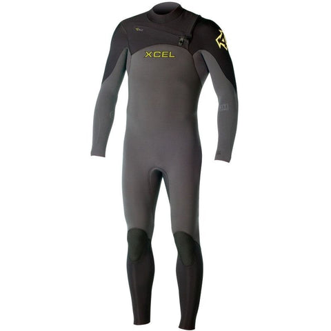 Xcel Men Wetsuit Infiniti Comp X2 4/3 Chest Zip - Graphite - Surf' in Monkeys School & Shop