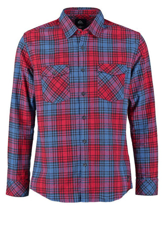 Quiksilver Everyday Flannel Long Sleeve Shirt - Red - Surf' in Monkeys School & Shop