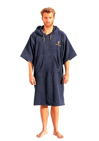 Pacifique Sud Poncho Surf Sleeves - Navy Blue - Surf' in Monkeys School & Shop