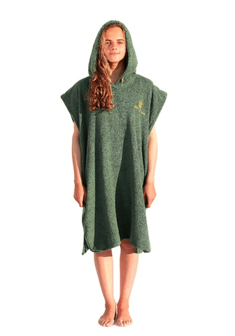 Pacifique Sud Poncho Surf - Green - Surf' in Monkeys School & Shop