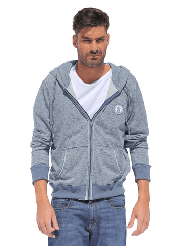 Pacifique Sud US Hoddie Jacket - Blue - Surf' in Monkeys School & Shop