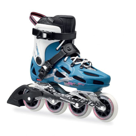 Rollerblade Maxxum 84 Inline Skates Petrol Blue/White - Surf' in Monkeys School & Shop